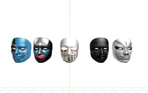 hollywood undead Masks (MMD) by 32Rabbit