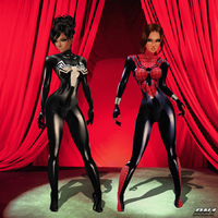 She-Vemon n SpiderGirl: Stage Pre-View_Unmasked by Krypto4CatSuits