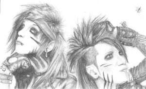 Andy Biersack and Ashley Purdy by DinofelizC