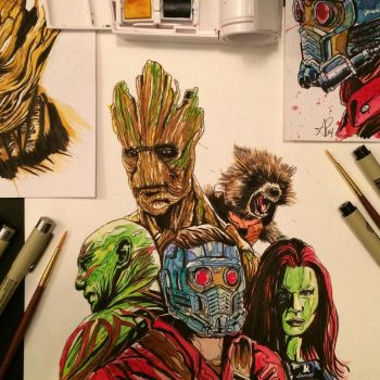 Guardians of the Galaxy by APetrie74