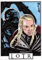 Sketchcards - LOTR - Haldir's end by hamdiggy
