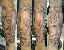 Skulls sleeve by Dreekzilla