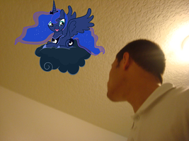 Princess Luna Why you bring a cloud in my room? by luisbonilla