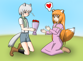 wolf and fox by redcomic