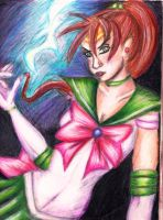 Sailor Jupiter colorful by OhioErieCanalGirl