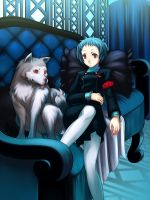 Fuuka and Koromaru by Sarge01