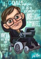 Stephen Hawking Art Card by K-Bo. by kevinbolk