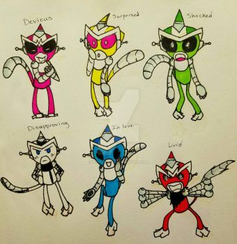 Robot Monkeys - Expressions by LostLight17