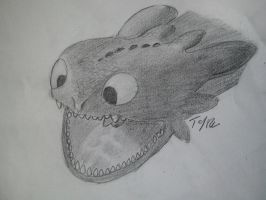 Hungry toothless by Tenynn