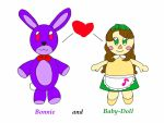 B-day gift plushie Bonnie and Baby-Doll by jlj16