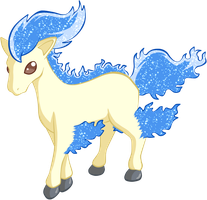 Shiny Ponyta - #077 by RandomDrawerOfArt