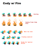 Cody with Fire Sprites by FlameBurstAnimations