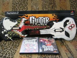 Guitar hero set-up by CaptainMarvelous