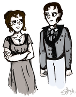 Pride and Prejudice, and also glares by pixel-Inked