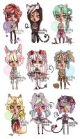 MiniChibis-01 :CLOSED: by mostlyniceAdopts