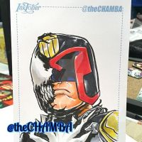 Inktober 2016 - 29 - Judge Dredd by theCHAMBA