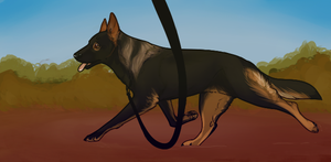 But ohh, they love to watch 'er strut. by Canidae-Mayhem