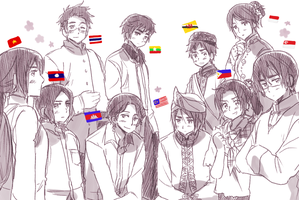 ASEAN 10 by ROSEL-D