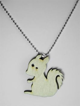 Squirrel Wooden Pendant by Papacan