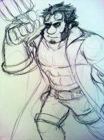 Wreck-It Hellboy by JeebusOfTheSwatKats