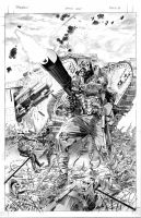 SPAWN 179 Page 21 B and W art by mikemayhew