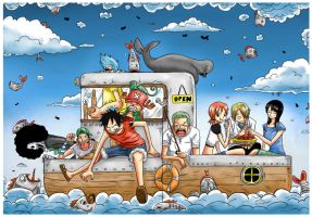 One Piece : Raining Fish by JERRYABISTADO
