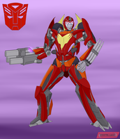 Autobot Hot Rod by destallano4