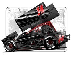 Sprint car Vector 12 by RDowney