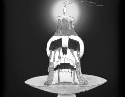 Skull Candle by head-space88
