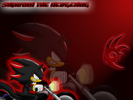 'Shadow Themed' Wallpaper :D by Nomad-The-Hedgehog