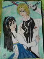 Shall we Dance? Rufus and Azura coloured. by lustyvampire