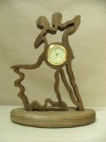 Ballroom Desk Clock (Skeleton Carly) by ichtheria