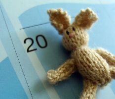 1-12 knitted bunny by Snowfern
