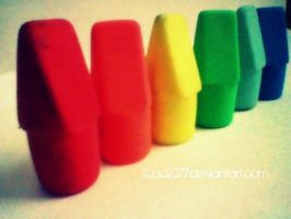 Rainbow Pencil Toppers by ac2377