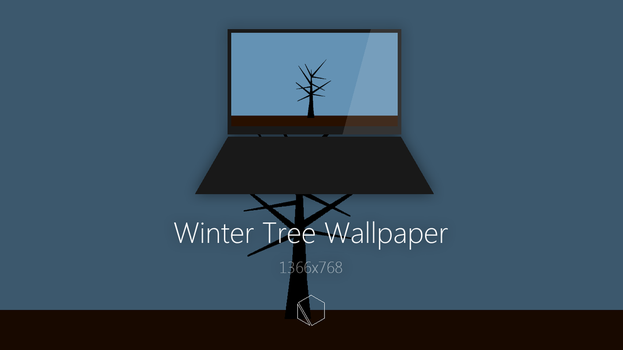 Winter Tree Wallpaper by TheButterCat