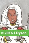 Storm 90's X-Men Gold Team sketchcard by Awerty7