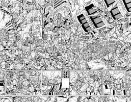 TF MTMTE 27 pages 4-5 spread lineart by markerguru