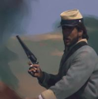 Confederate cavalry by stariander