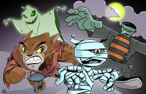 Halloween Knights by scootah91
