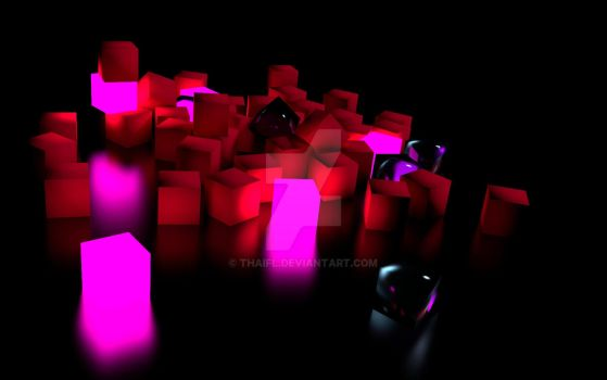 Cubes background black by thaifl