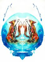 Star-Crossed foxes by Tallis