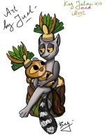 King Julien XIII and Mort :3 by JueliyaForever