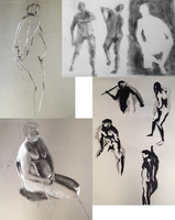 Figure and gesture drawing by pSarahdactyls