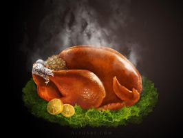 Roasted Thanksgiving turkey. by AlexandraF