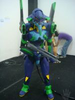 Cosplay EVA-01 first time born by V-male