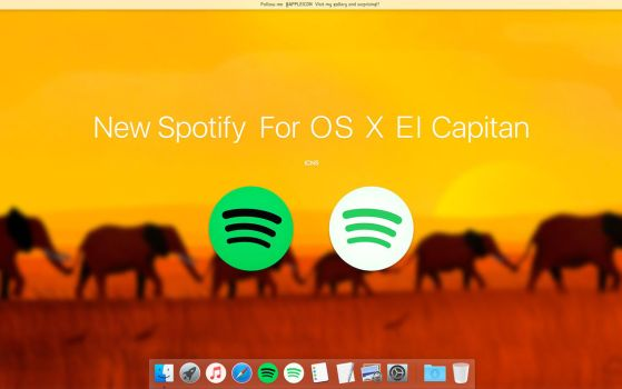 New Spotify For OS X El Capitan by MaxColins