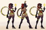 Ishtar poses by oh8