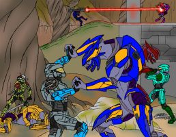 Halo: Spartans vs Elites by TRVartwork