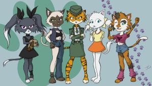Kitty Squad by JKirckof