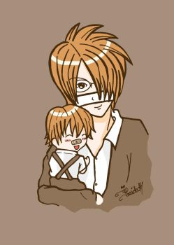 reita and little akira by asyagisenkai